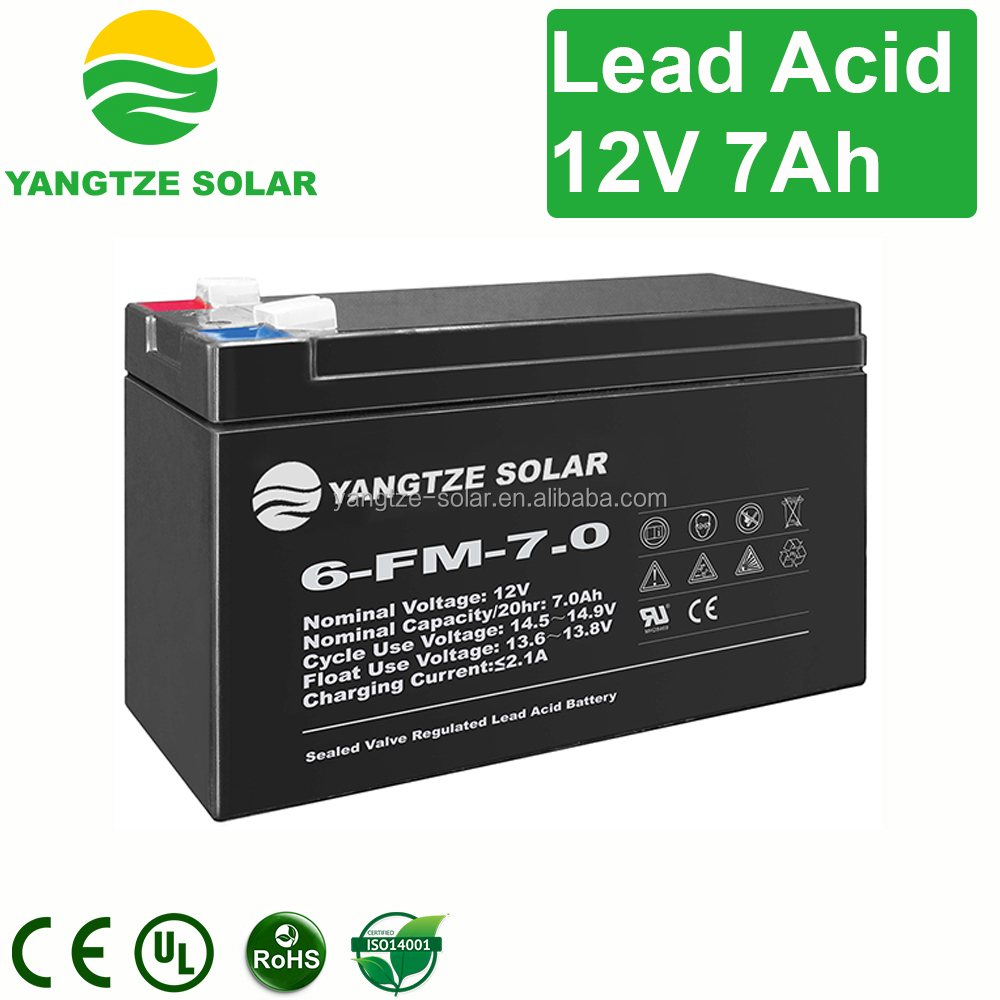 Reliable ups 12v 7ah custom shape battery