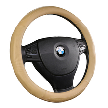 38CM/15Inchs Styling Leather Car Steering Wheel Cover For Universal Car Steering Wheel Accessories
