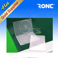 Single/double super transparent plastic cd dvd storage box