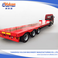 Factory Manufacturer Low Bed Galvanized Utility Trailer for Excavator Transportation