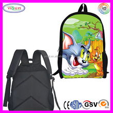 B462 Sublimation Print Backpack Tom and Jerry Children School Bag Tom and Jerry Backpack