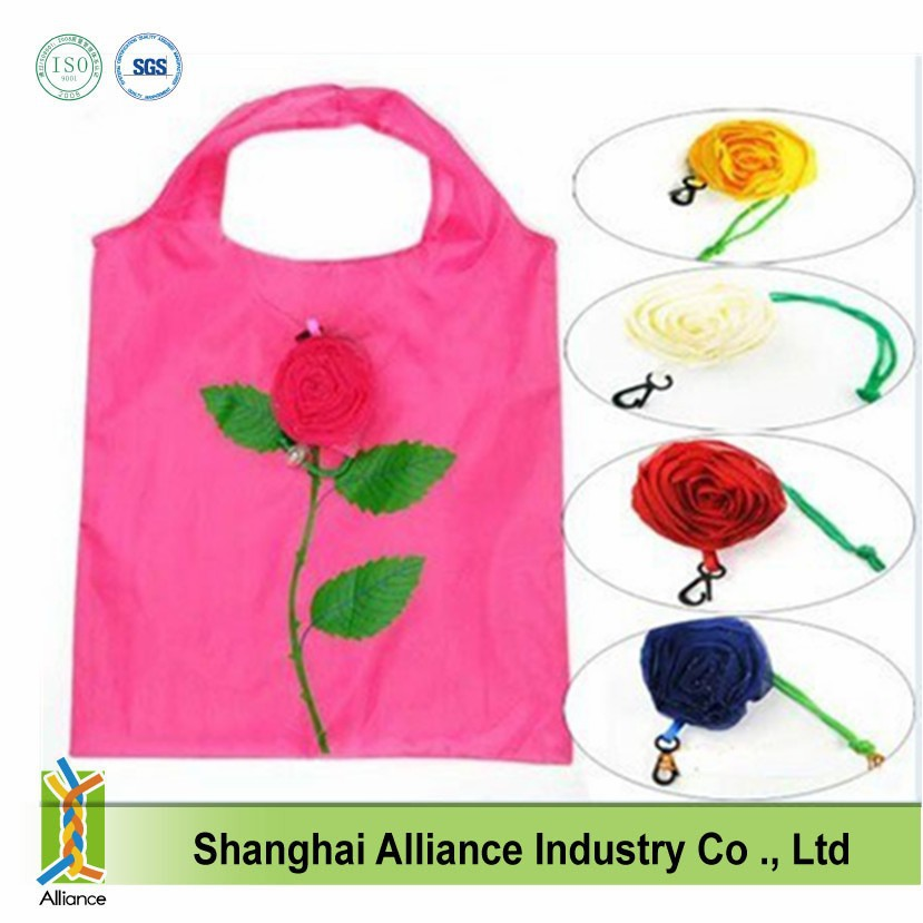 Rose Shaped Foldable Totes