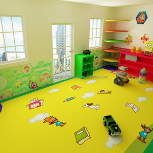Wholesale pvc sport vinyl roll flooring for kindergarten