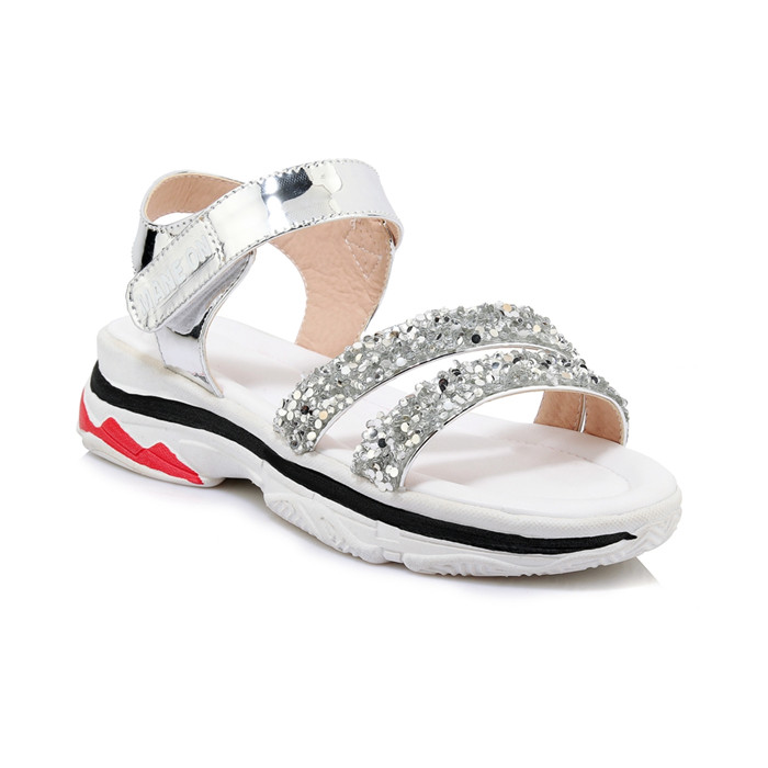 Ladies Summer Shoes Platform Shiny Sport Sandals Sneakers High Heel Comfy