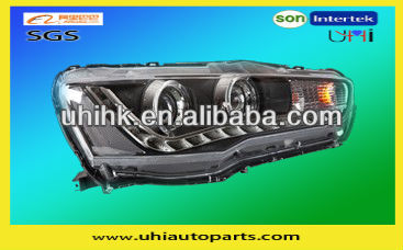 car spare/body parts---mitsubishi lancer 10 LED headlight/lamp