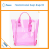 Popular Pink vinyl shopping tote pvc waterproof bag pper Purse Stylish