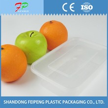 Disposable PP Plastic Meat and Sushi Food Container