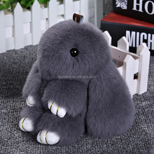 Fashion Fur Ball Rabbit Keychain with Pompom Keychain for Bag Car Accessory Wholesale