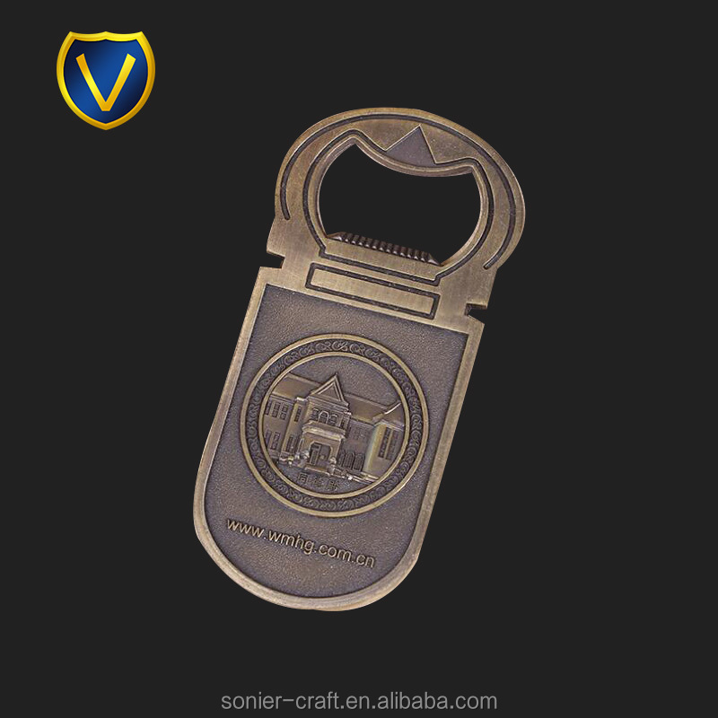 Canada antique logo metal blank aluminum bottle opener