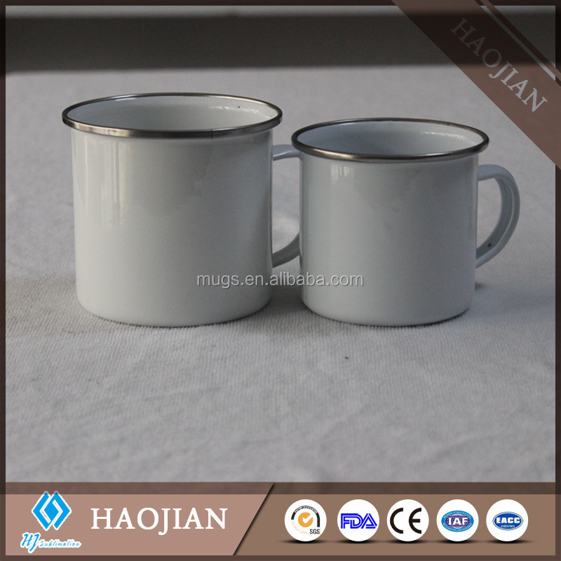 7oz 8oz 9oz 300ml 400ml 450ml enamel tin mug coffee mug for sublimation