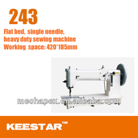 Keestar 243 flat bed sewing machine, heavy duty,compound feed, single needle, shuttle hook, JUKI TNU-243