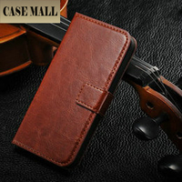 Retro style for iphone 5 wallet flip leather cover case