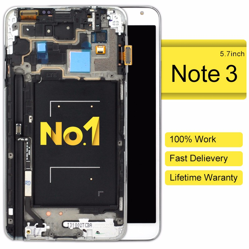 Cheap high copy replice for samsung note 3 spare part(with frame)