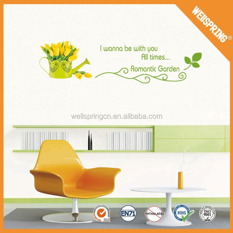 Golden supply none-toxic Colorful vinyl wall sticker words