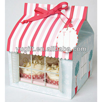 House design decorative paper cardboard cake boxes