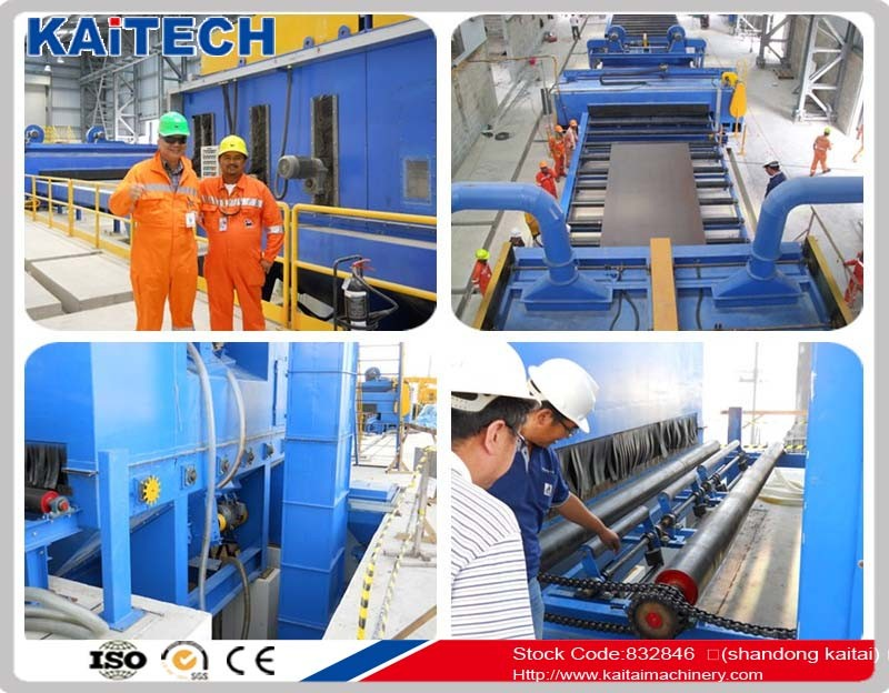 Q6920 shot blast surface cleaning equipment blasting zone adopts computer aided design