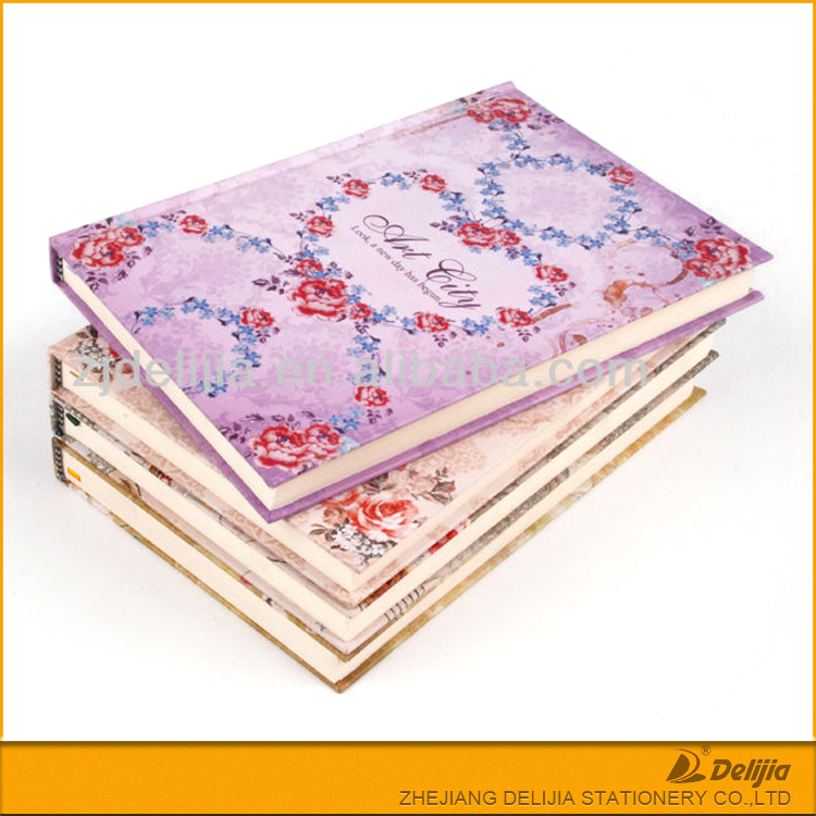China made pretty flower printed hardback note book
