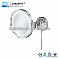 20cm round led wall/surface mounting mirror makeup shaver light