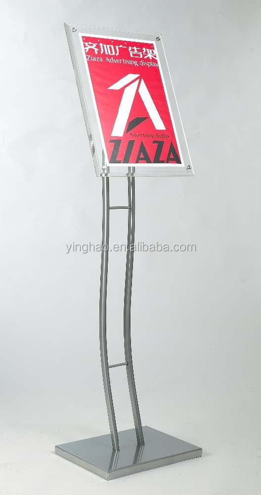 high quality acrylic material floor stand for posters