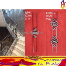 Ornamental curved wrought iron stair railings bar, balustrade post