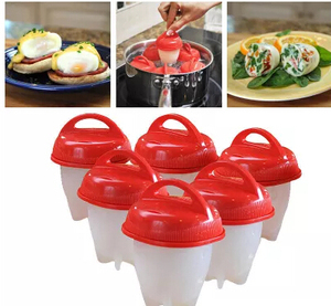 Hot sell silicone cup egg boil cooker without shell,rapid egg cooker