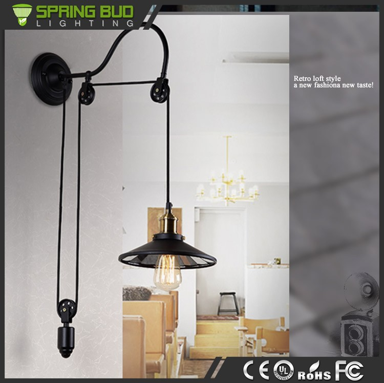 Pulley Wall Light Vintage Industrial Cast Iron Wall Pulley Pendant light