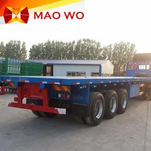 MAOWO 3 axles 50tons flatbed semi trailer with container twist lock