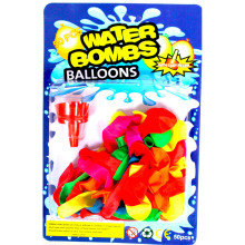 #water bomb# 50pcs card packing water balloon with filler inside