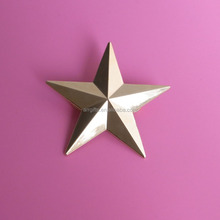 Gold And Silver Plated 3D Star Shape Metal Lapel Pin Badge