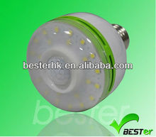 Best seller 2013 pir motion sensor led light bulbs wholesale,5-7m sensor distance+2yrs warranty