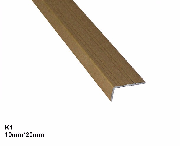 Aluminium flooring trim L strip L shape flooring profile L angle trim