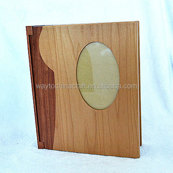 Wedding gift logo engraved wooden photo album box