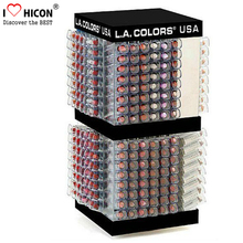 Multi-functional Quality Cosmetics Retail Store Stand Countertop Acrylic 384 Pieces Lip Balm Display
