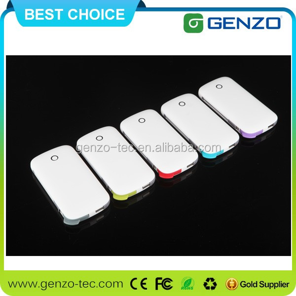 Ultra thin credit card portable power bank 2600mah customcolorful logo printing