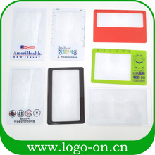 2016 hot sale custom plastic magnifying sheets