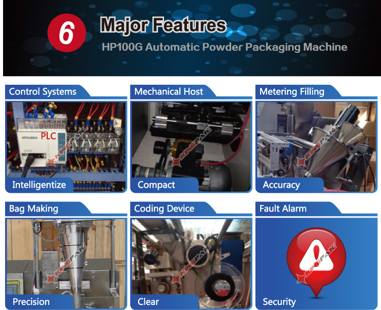 HP100P Automatic Pouch Powder Packing Machine