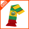 Winter warm scarves wholesale embroidery knitted soccer scarf