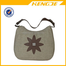 lovely lady canvas tote bag leather handle