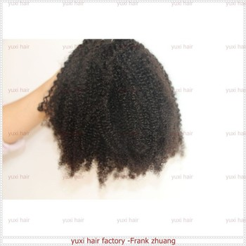 afro kinky texture hair weft in stock