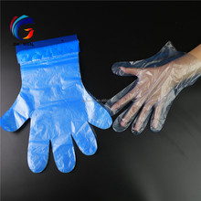 Disposable Paper Card Header blocked PE Glove hdpe ldpe gloves with hook