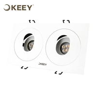 KEEY Led Grille Light 20W Rectangle Shape Led Grille Panel Light For Commercial Use Pure White QYR2-GS604N-2