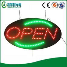 Hidly low price led open electronic acrylic signboard,oval led open sign