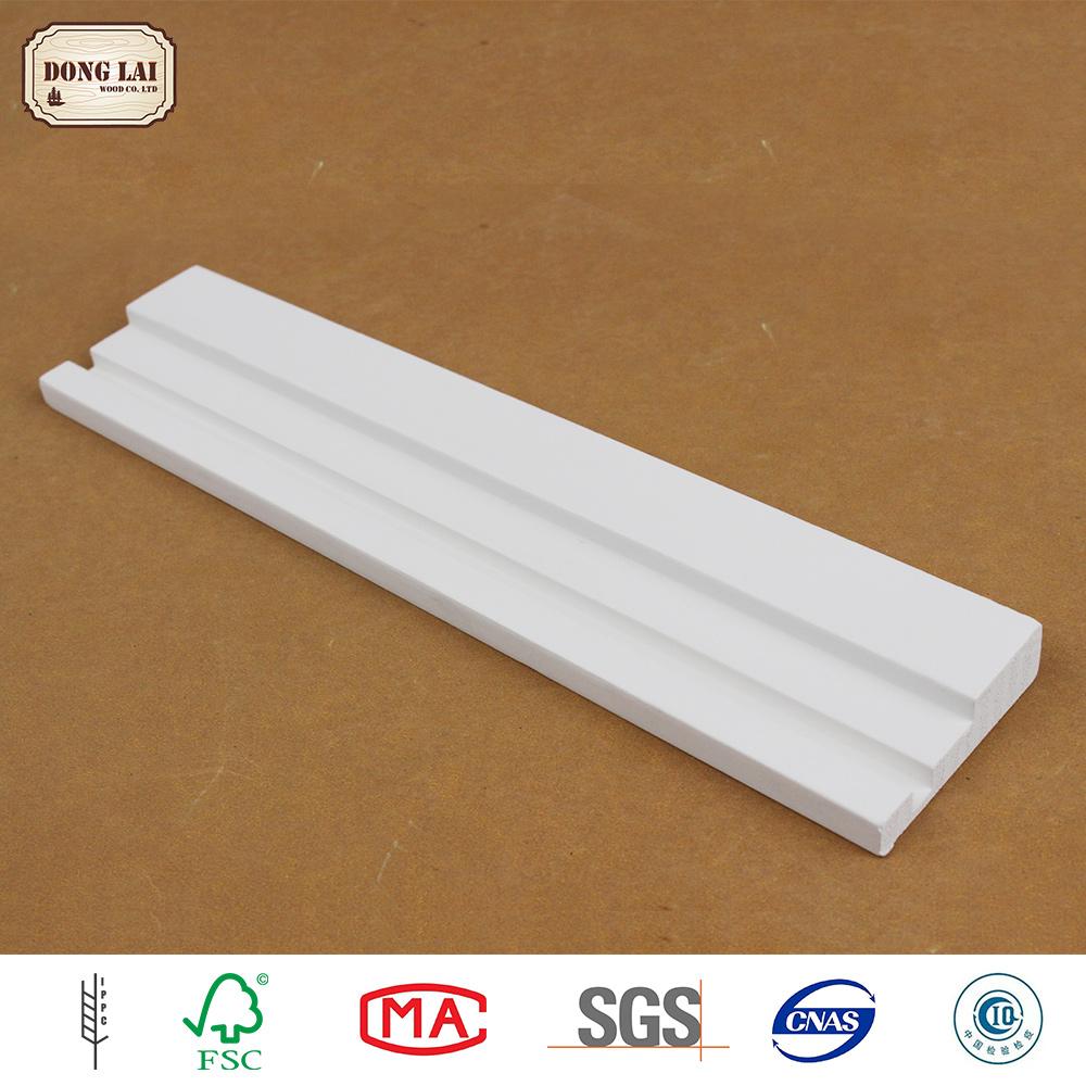 Wood Door Casing Mdf Baseboard Moulding White Primed Moulding
