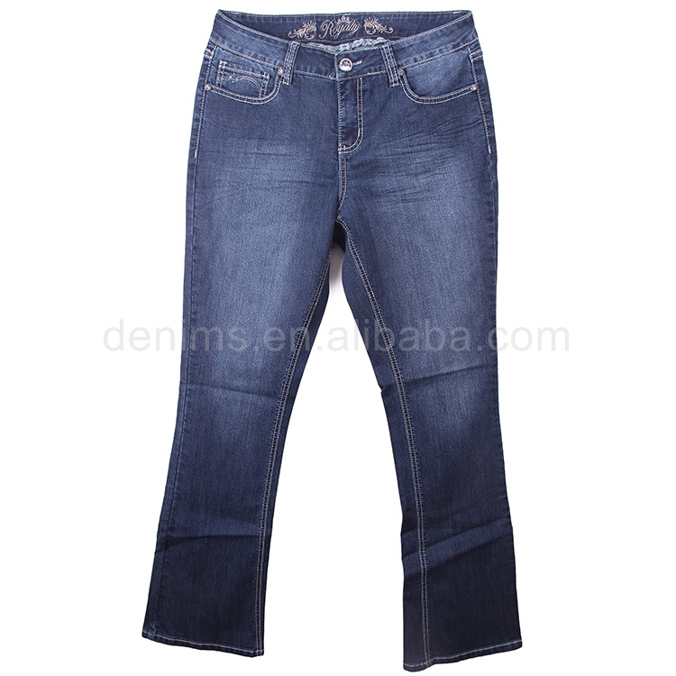 WP608883-C1 womens apparel denim stretch fabric industrial cotton jeans