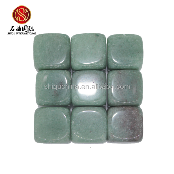 SQ new beer cooler ice <strong>wine</strong> 9 pcs ice cube green semi precious whiskey stones