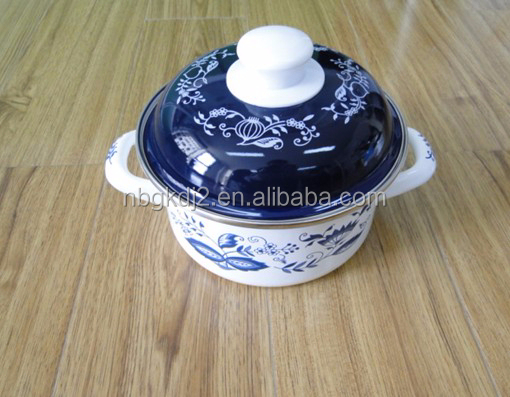 china style strait pot with decal for children