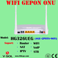 IPTV GEPON ONU Modem FTTH Solution Device Terminal 300Mbps External Antenna WIFI