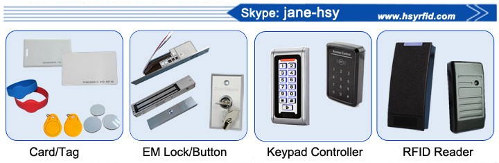 Top quality Electronic RFID Keyless ID/IC Card Hotel Door Lock with access control software