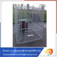 Custom logo large outdoor galvanized chain link metal dog run house