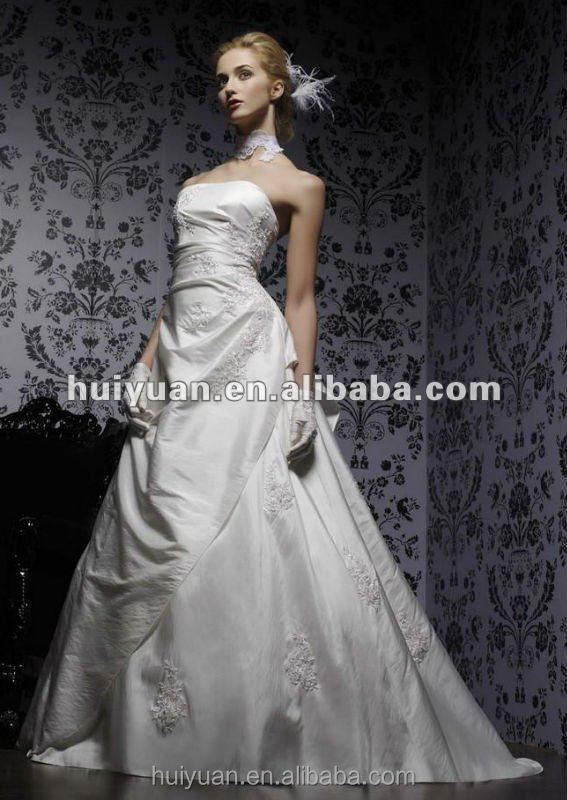 white satin ball gown sleeveless fabric for wedding dress lace